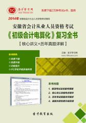 2016年安徽省会计从业人员资格考试《初级会计电算化》复习全书【核心讲义+历年真题详解】