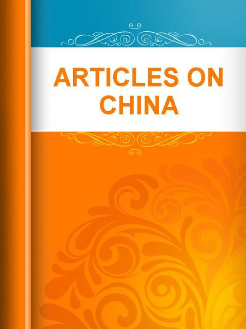 Articles on China