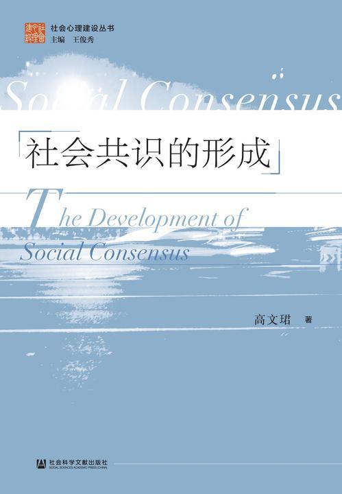 社会共识的形成(社会心理建设丛书)