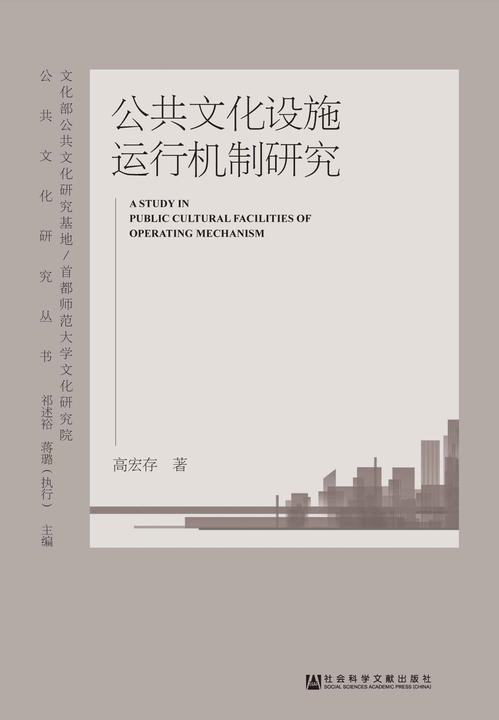 公共文化设施运行机制研究