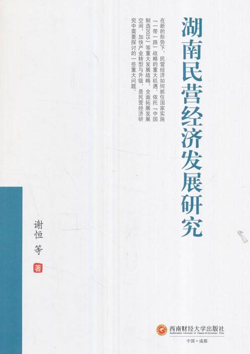 湖南民营经济发展研究
