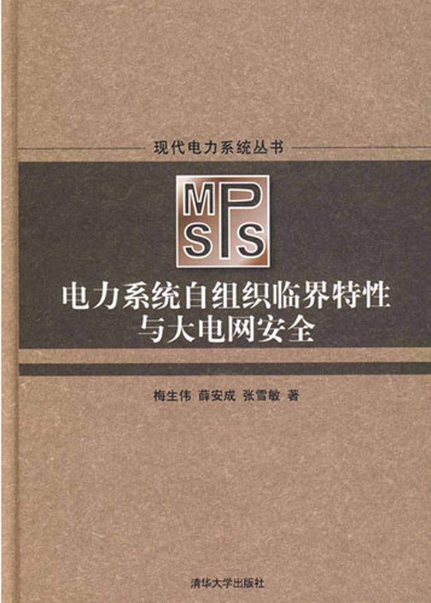 电力系统自组织临界特性与大电网安全(仅适用PC阅读)
