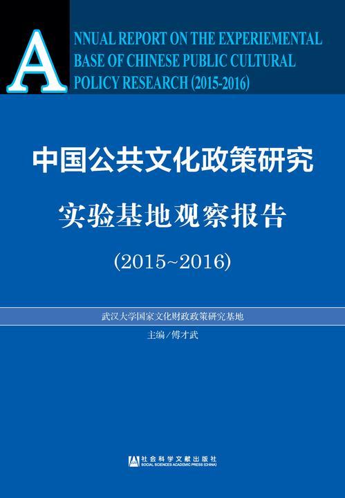 中国公共文化政策研究实验基地观察报告(2015~2016)