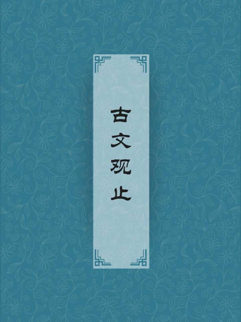 古文观止(文集所收录的文章代表文言文的最高水平)