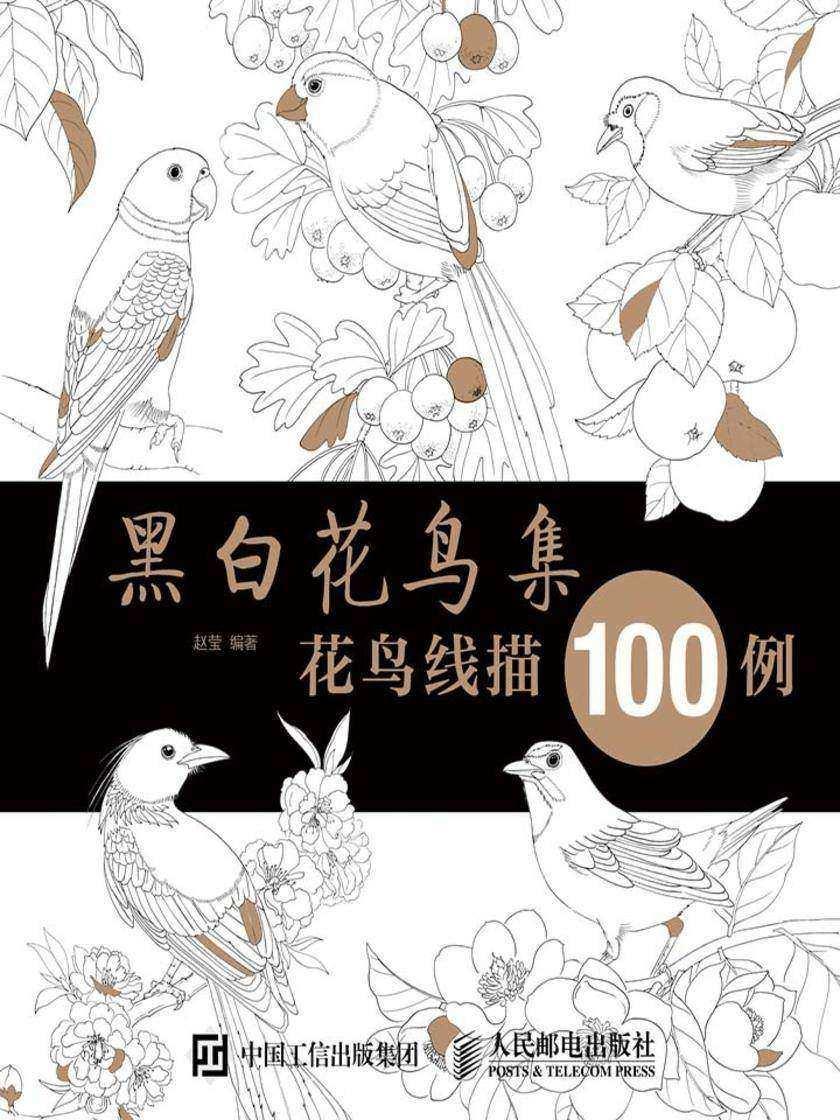 黑白花鸟集:花鸟线描100例