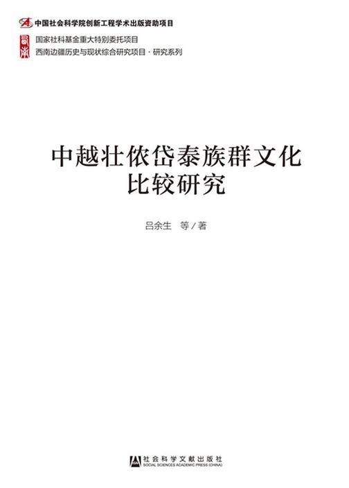 中越壮侬岱泰族群文化比较研究