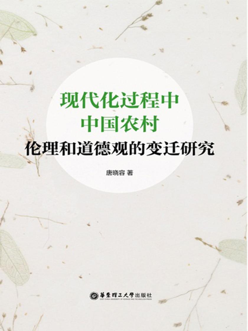 现代化过程中中国农村伦理和道德观的变迁研究