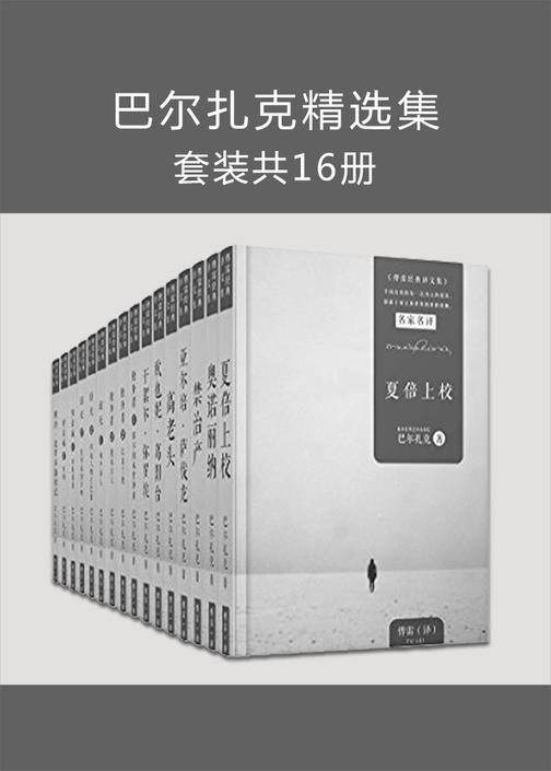 巴尔扎克精选集16册(傅雷经典译本,包括《高老头》《欧也妮葛朗台》等)