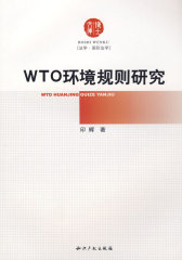 WTO环境规则研究(试读本)