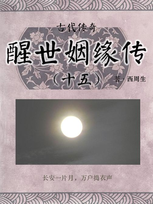 传统古典文学:醒世姻缘传(十五)