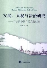 """发展、人权与法治研究——""""法治中国""""的文化证立"""