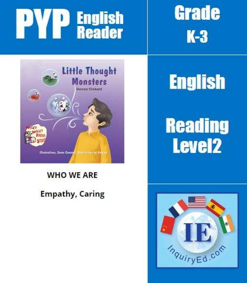 PYP: Reader- Divorce, Parent Separation & Emotions Little Thought Monsters