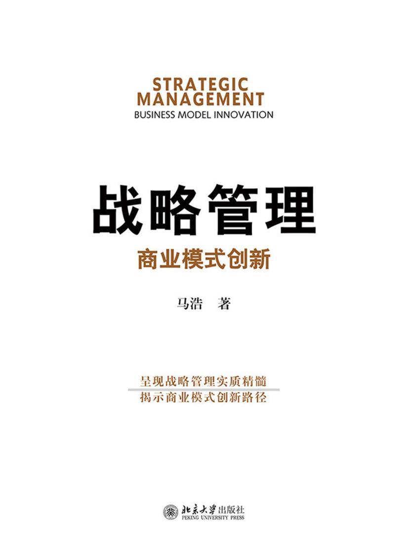 战略管理:商业模式创新
