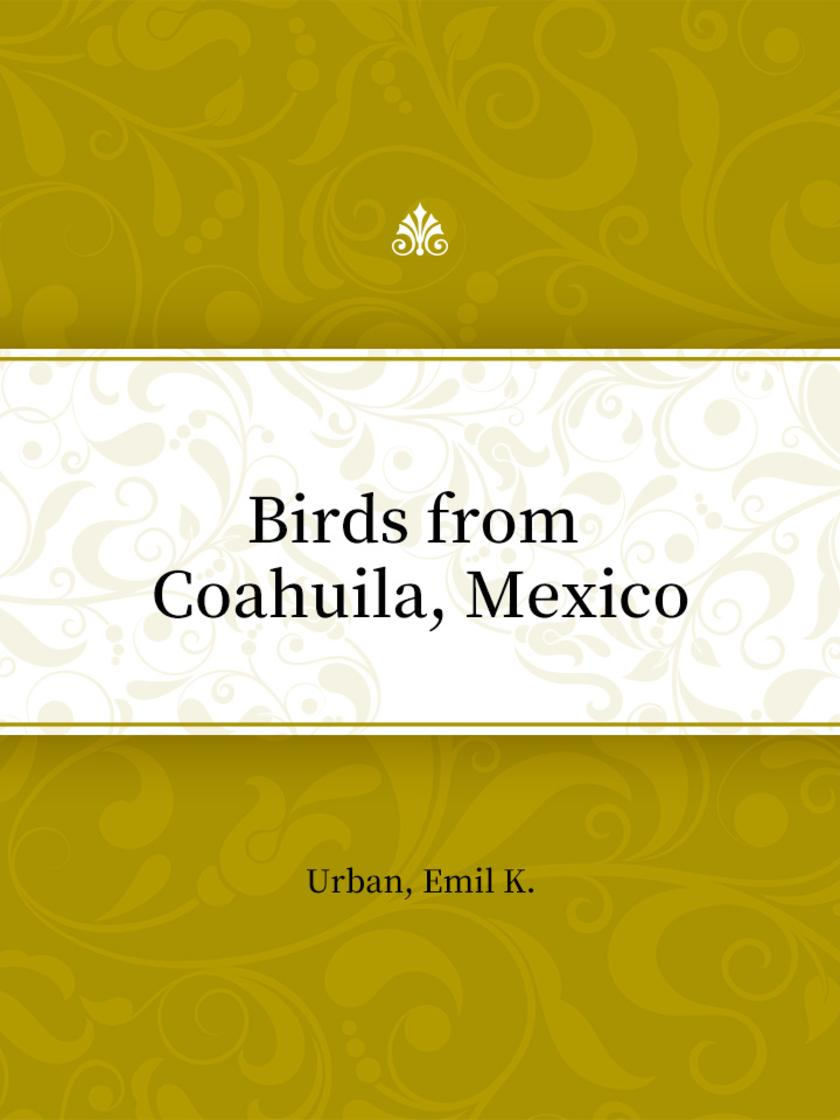 Birds from Coahuila, Mexico