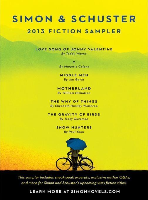 Simon & Schuster 2013 Fiction Sampler