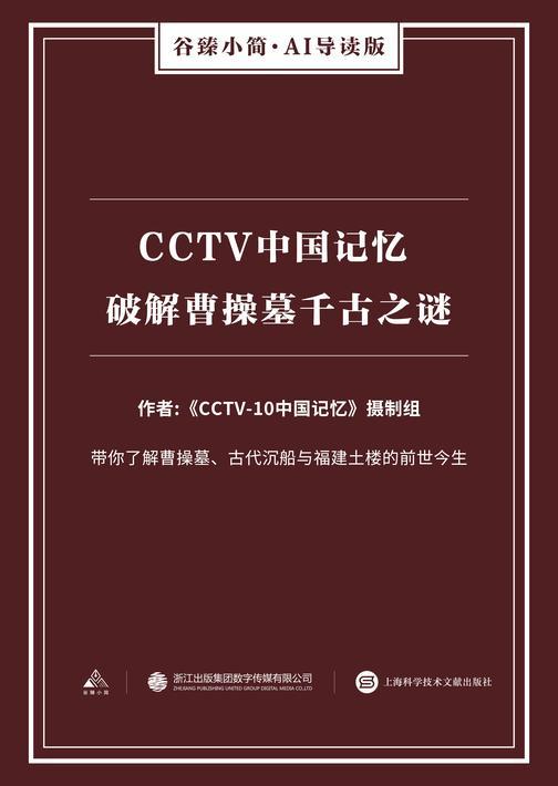 CCTV中国记忆 破解曹操墓千古之谜(谷臻小简·AI导读版)