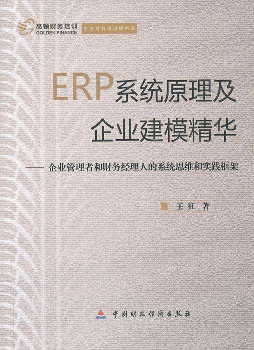 ERP系统原理及企业建模精华:企业管理者和财务经理人的系统思维和实践框架