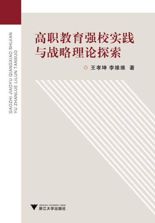 高职教育强校实践与战略理论探索