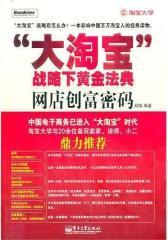 """""""大淘宝""""战略下黄金法典——网店创富密码(试读本)"""