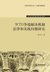 WTO争端解决机制法律和实践问题研究