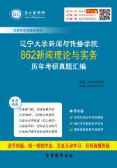 辽宁大学新闻与传播学院862新闻理论与实务历年考研真题汇编