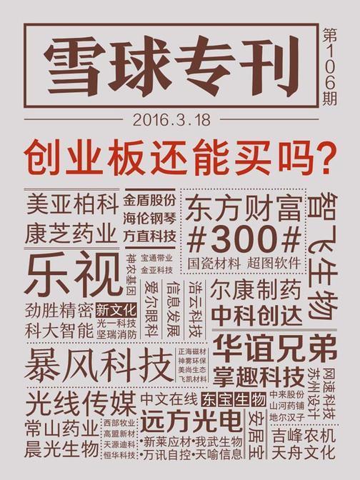 雪球专刊106期——创业板还能买吗?