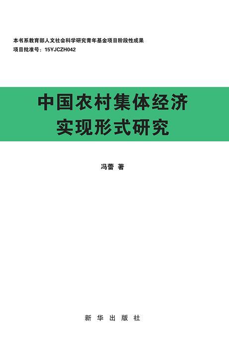 中国农村集体经济实现形式研究