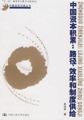 中国资本积累:路径、效率和制度供给(仅适用PC阅读)