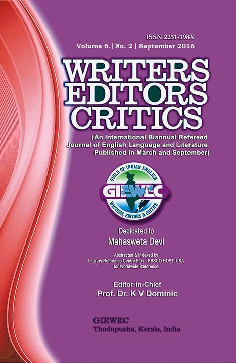 Writers Editors Critics (WEC):Vol. 6, No. 2 (Sep. 2016)