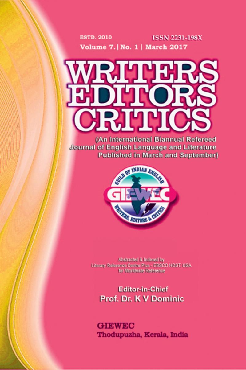 Writers Editors Critics (WEC):Vol. 7, No. 1 (March 2017)