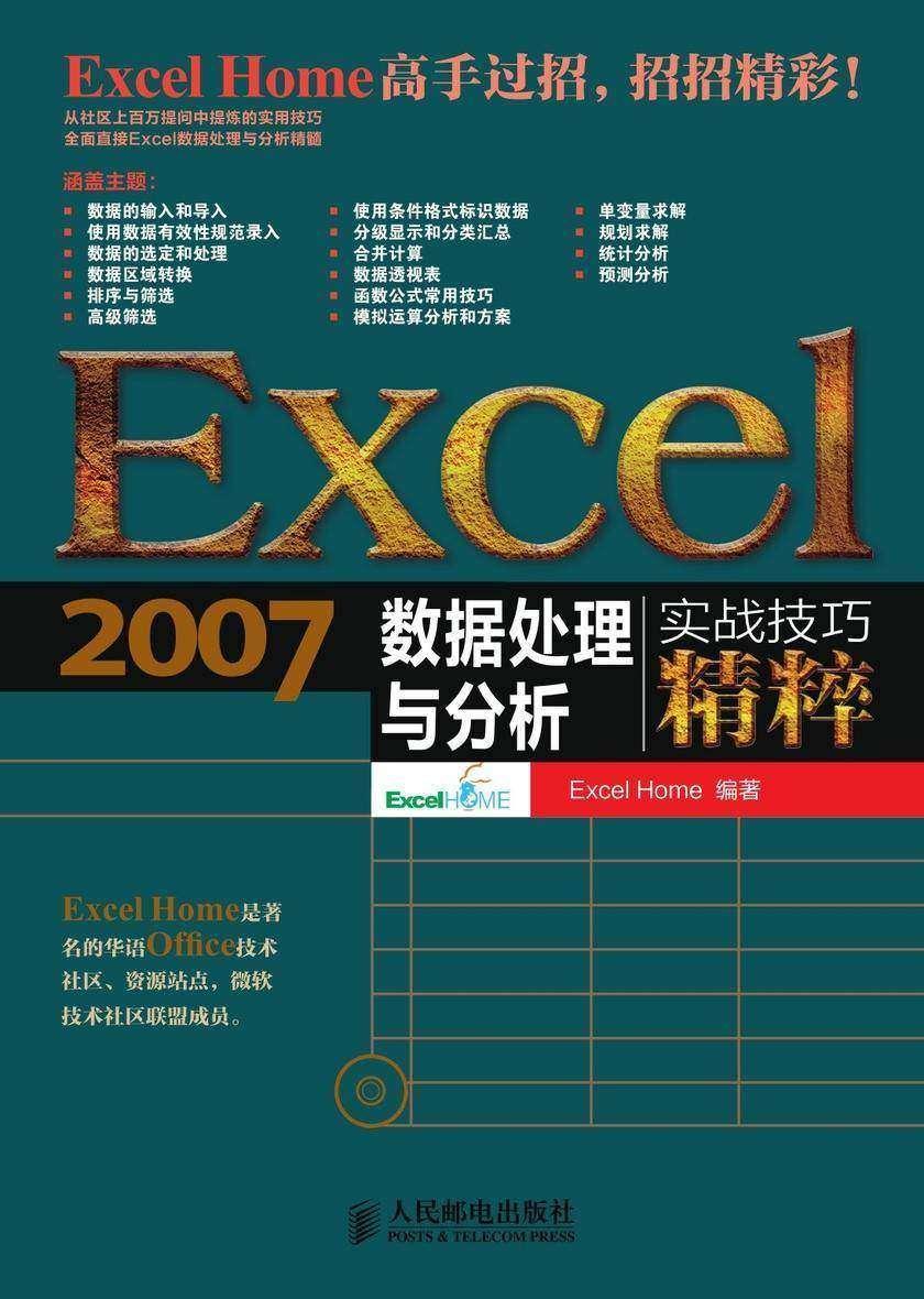 Excel2007数据处理与分析实战技巧精粹