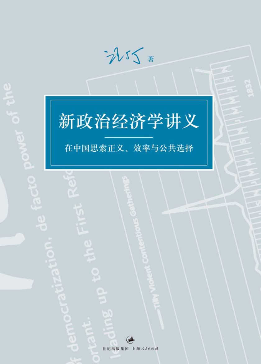 新政治经济学讲义:在中国思索正义、效率与公共选择