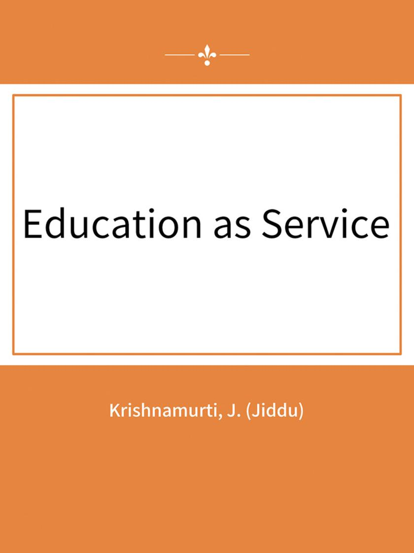 Education as Service