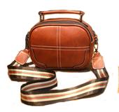 如娅女士小包包女2021新款时尚潮百搭韩版小圆包宽带手提包单肩斜挎包箱包